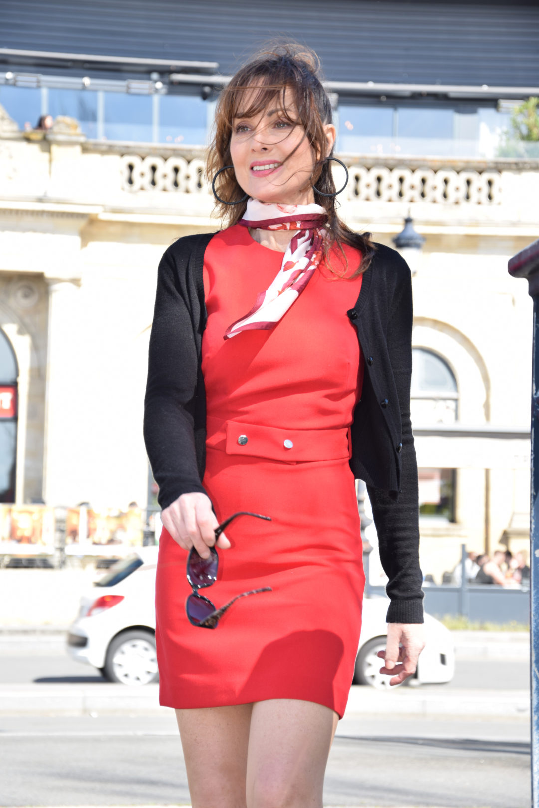 Petite robe rouge fluide