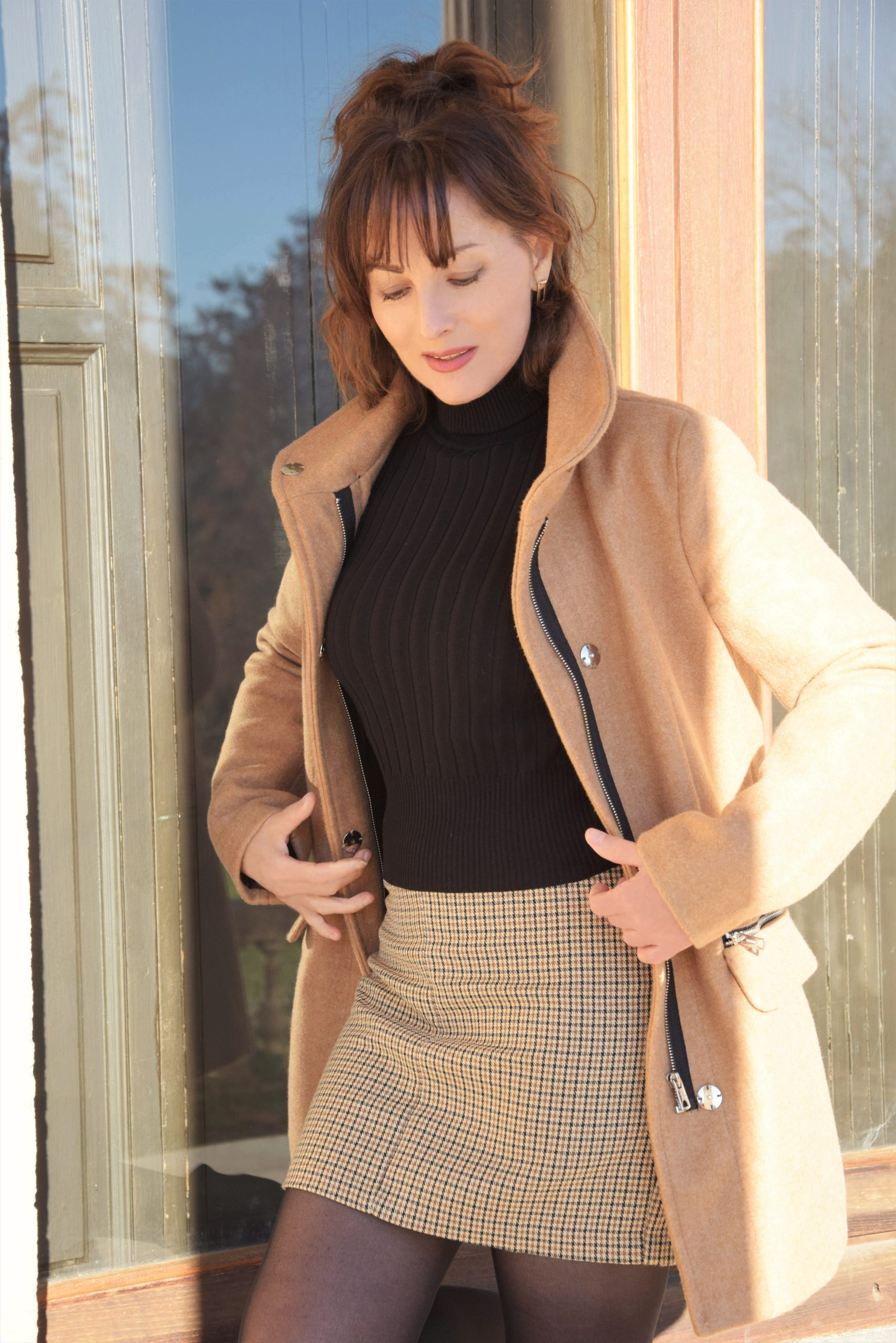 Manteau camel Nelly Berthele