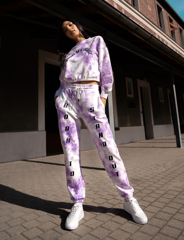 jogging tie and dye violet jennyfer