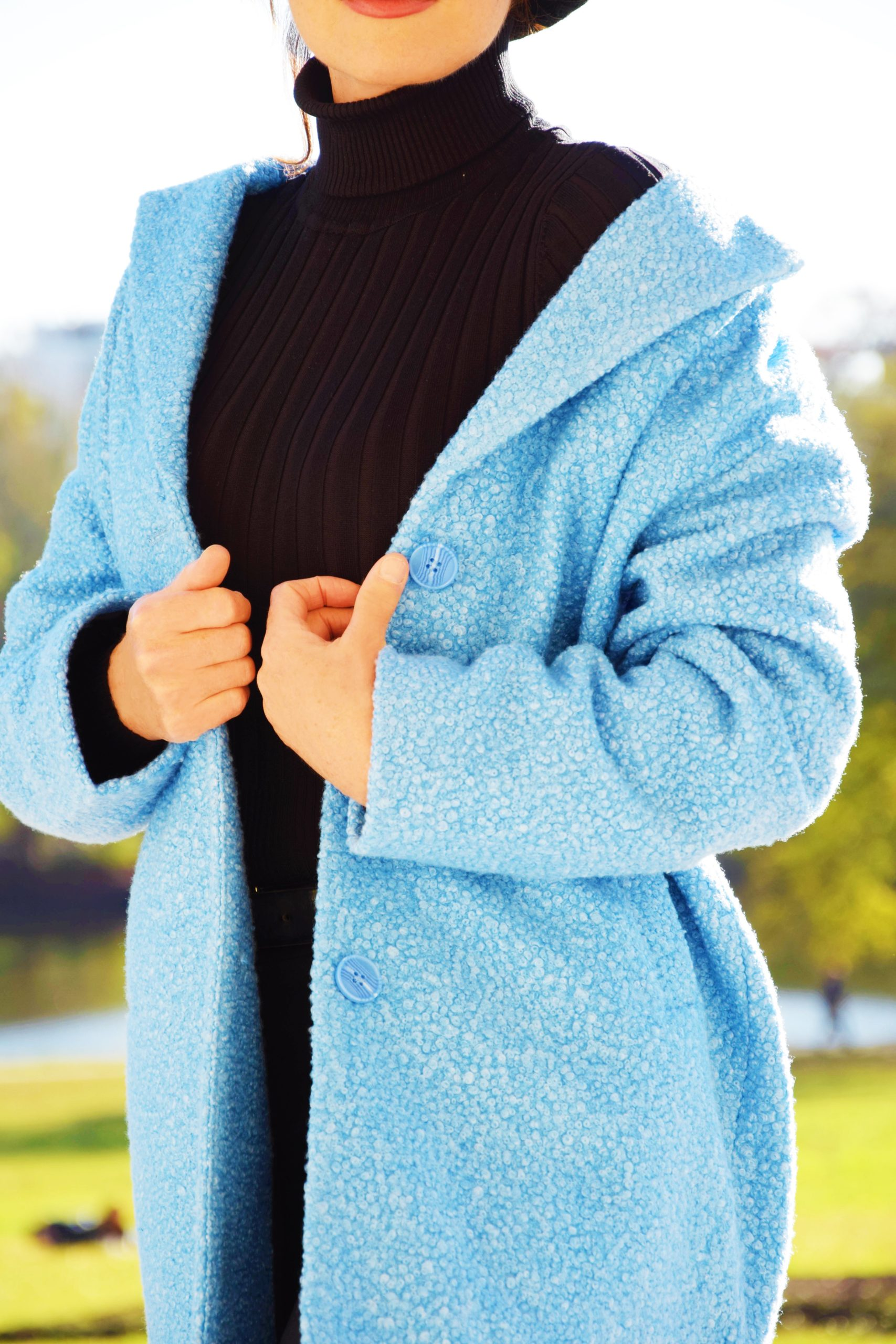 nelly berthele manteau bleu