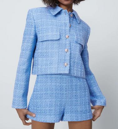blazer zara bleu