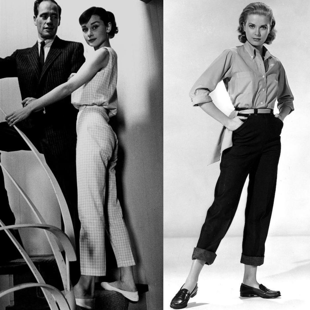 Audrey Hepburn Grace Kelly pantalon taille haute