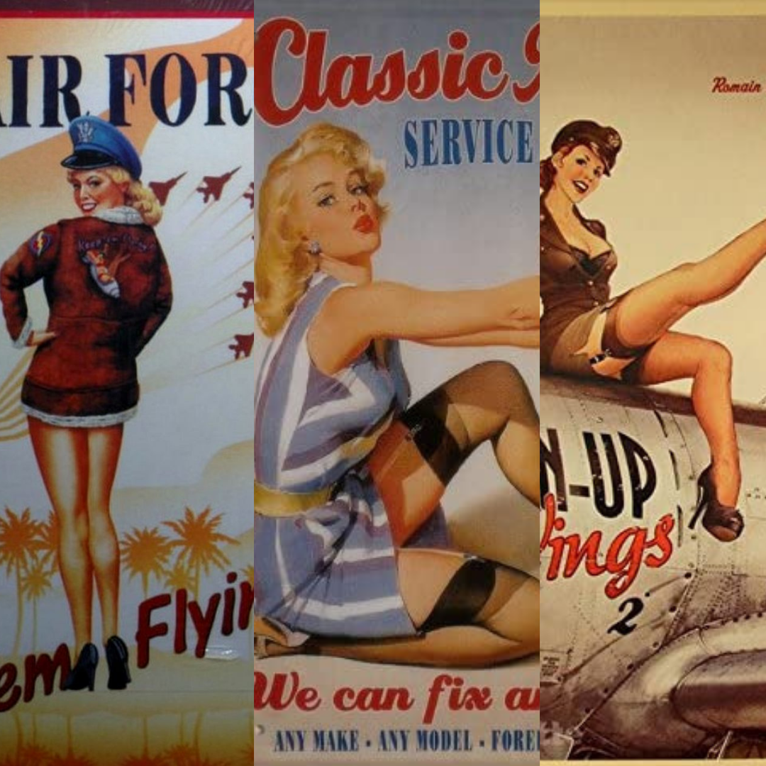pin up années 40 affiches