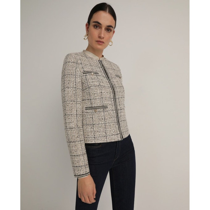 veste tweed el corte ingles