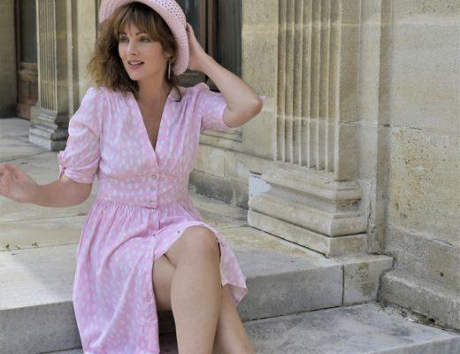 robe a pois pour l'ete
