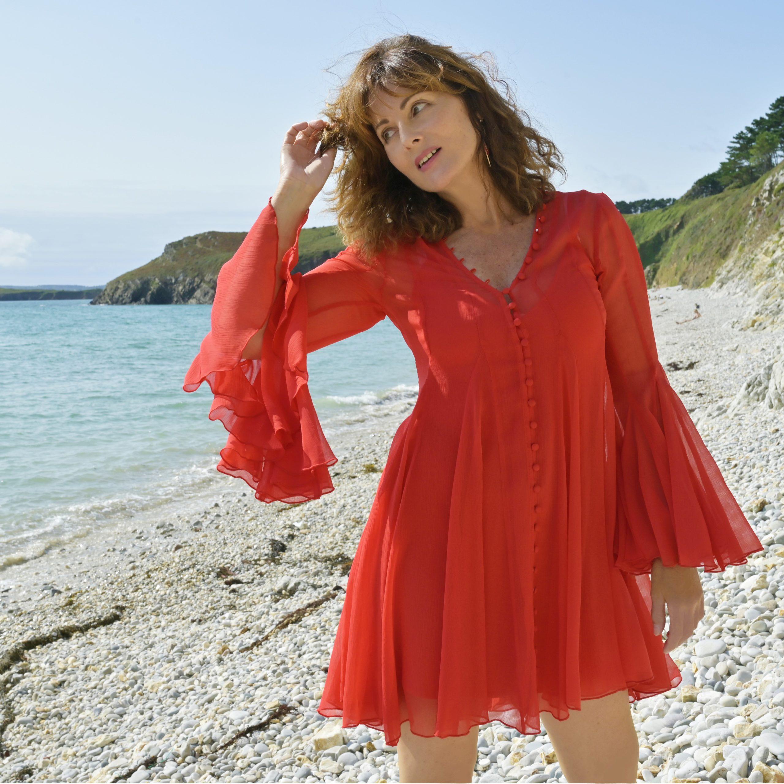 robe de cocktail rouge Asos