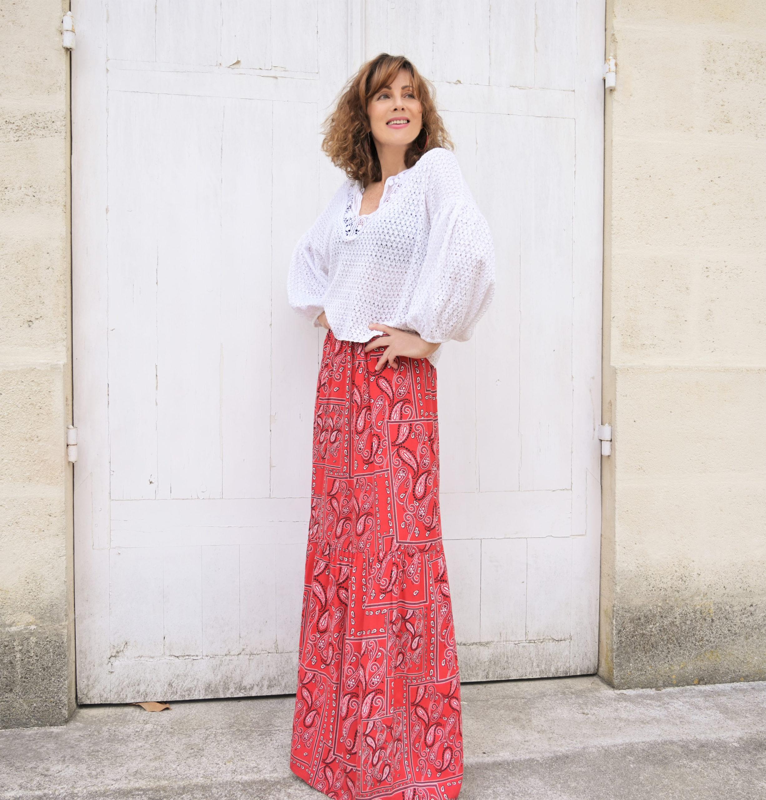 jupe longue hippie look